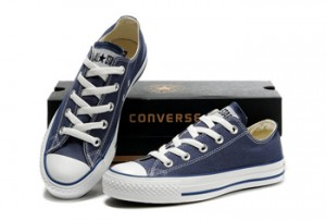 Convers Chuck Taylor All Star Low Top Navy Canvas Shoes