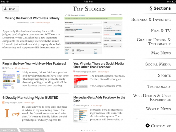 Zite seems to have the best content and overall user experience.
